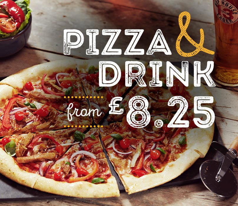 Pizza and a Drink for £7.95